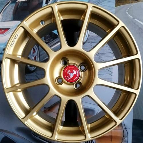 アバルト 500/595 12-SPOKE 17インチホイール セット(ゴールド)