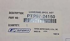 Lexus F-Sport Lowering Springs
