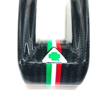 アルファロメオ ジュリア QV カーボンステアリングロアトリムカバー(QV ロゴ )
