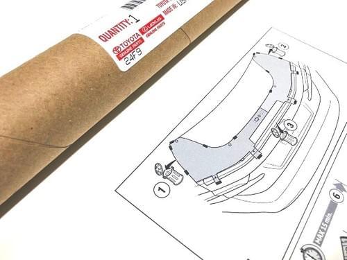 Lexus IS Rear Spoiler Installation Template