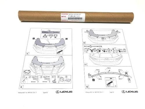 Lexus RC Rear Spoiler Installation Template
