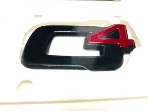 アルファロメオ 純正 Q4 ブラッククローム エンブレム
