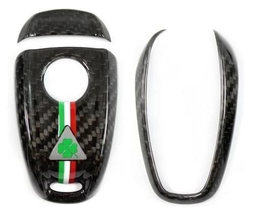 アルファロメオ ステルヴィオ カーボンキーカバー(QV ロゴ )