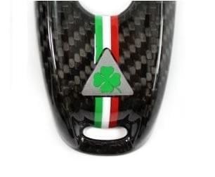 アルファロメオ ジュリア カーボンキーカバー(QV ロゴ )