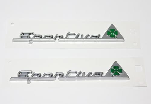 アルファロメオ 純正 Sportiva フェンダーバッジ セット