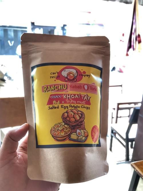 Snack Khoai Tây Trứng Muối ( K Cay )