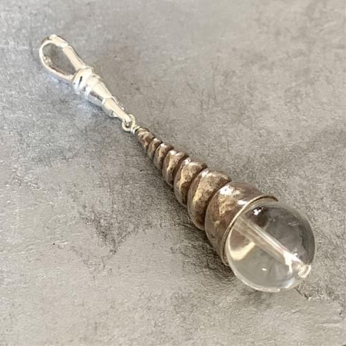 Sterling Silver and Quartz Crystal