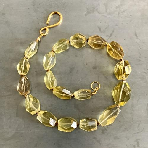 Faceted Citrine Nuggets