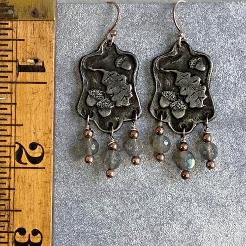 Oak Leaf and Acorn Earrings
