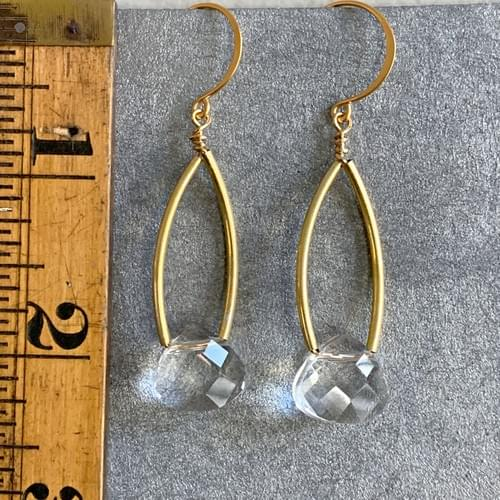 Faceted Quartz Crystal Drops