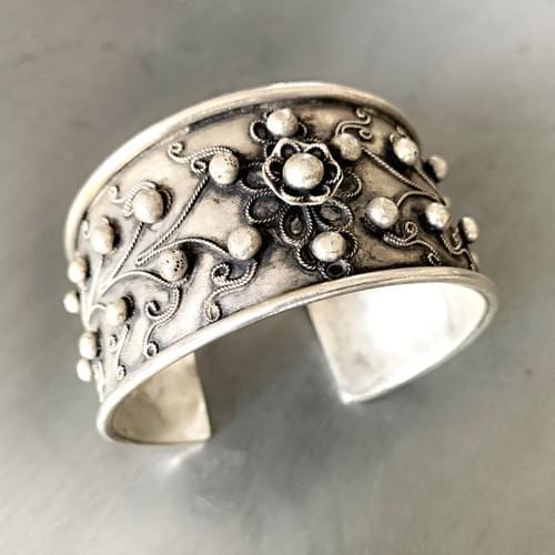 Miao Silver Cuff Bracelet