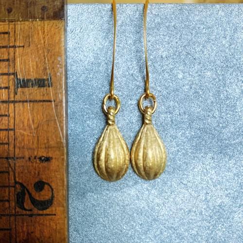 Textured Vintage Drop Earrings