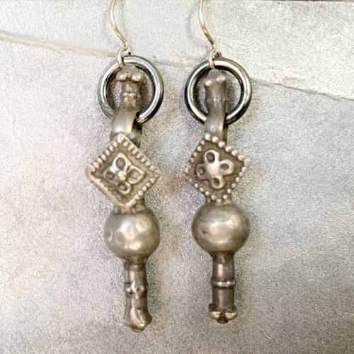 Rajasthani Silver Earrings