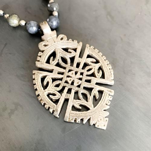 Coptic Pendant on Labradorite