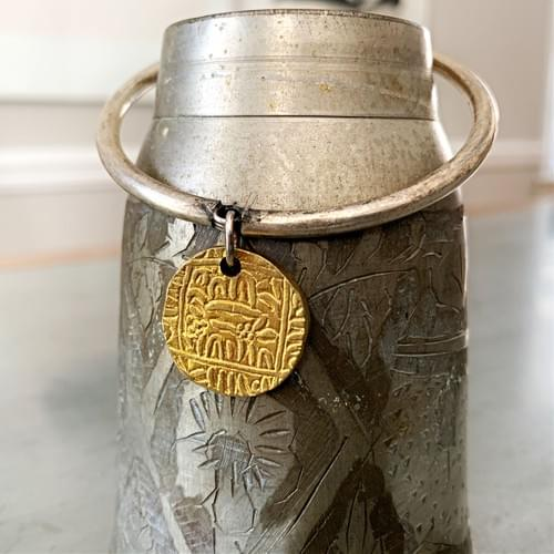 Dangle Bangle Brass Old Coin of India