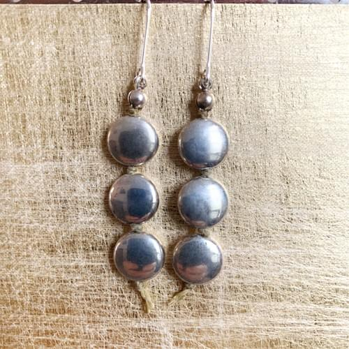 Three Silver Moons Earrings