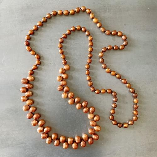 Copper Freshwater Pearl Strand