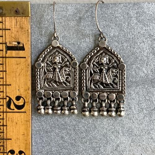 Sterling Silver Durga with Dangles
