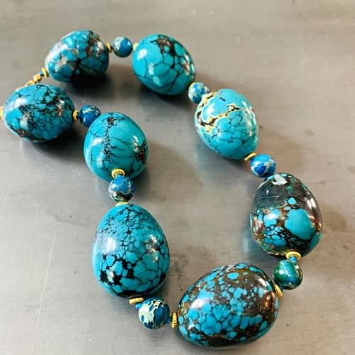 "Collar of Turquoise ""Eggs"""