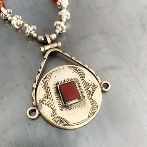 Tuareg Pendant with Carnelian Necklace