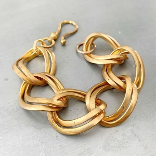 Large Link Vintage Curb Chain Bracelet
