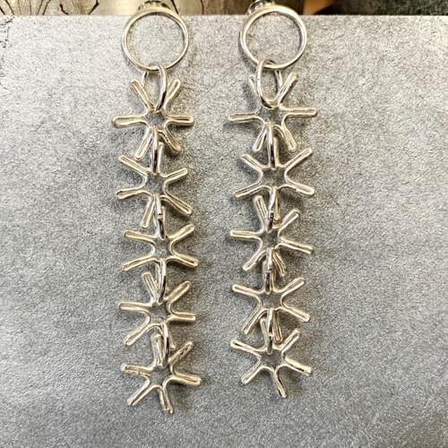 Fine Silver Snowflakes
