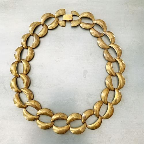 Vintage Oval Curb Chain Necklace