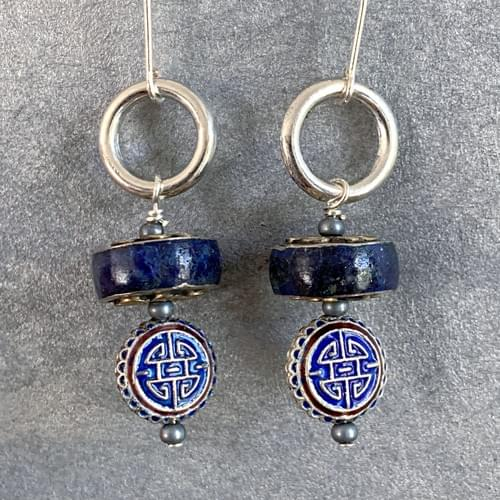 Tibetan Lapis and Chinese Enamel