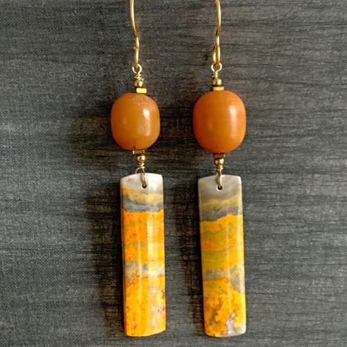 Antique Copal Amber with Jasper