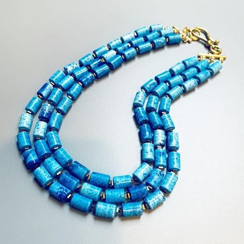 Blue Jasper Multi-Strand Statement Necklace