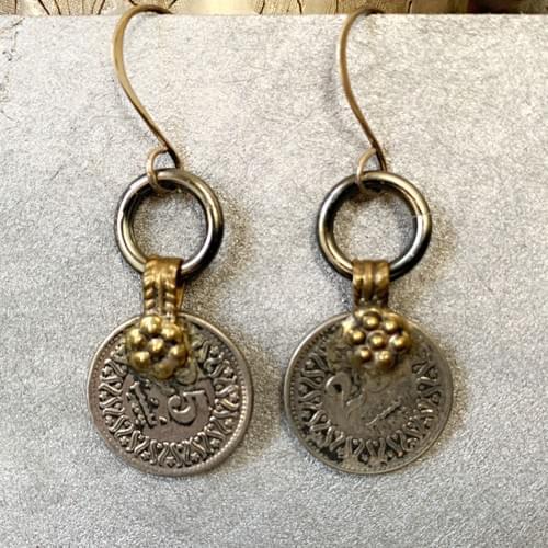 Kuchi Coin Earrings