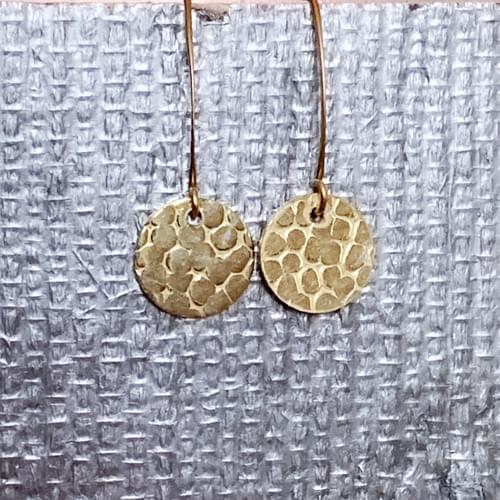Hand-Textured Rounds Earrings