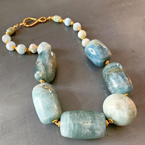 Aquamarine and Gold Vermeil