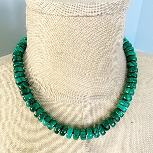 Malachite Rondelle Necklace