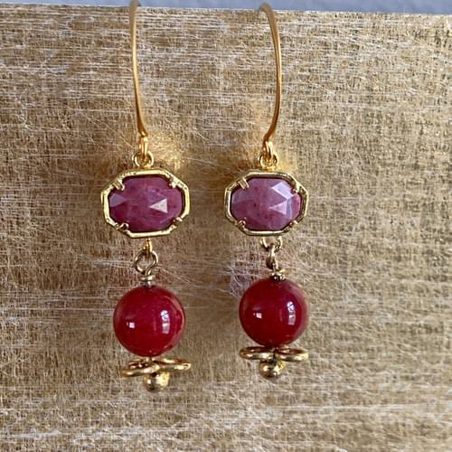 Pink Agate Drops