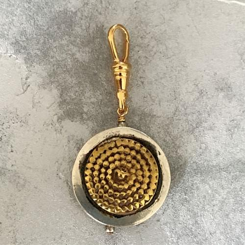 Rajasthani Silver with Brass Granulation