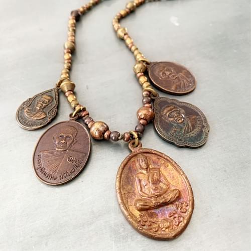 Auspicious Monk Amulet Necklace