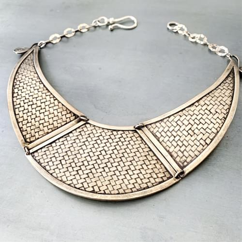 Karen Hill Tribe Woven Silver Necklace