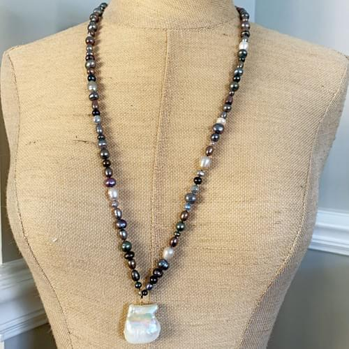 Large Baroque Pearl on Freshwater Pearls