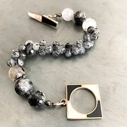 Art Deco Black and White Bracelet