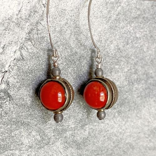 Tibetan Coral and Silver