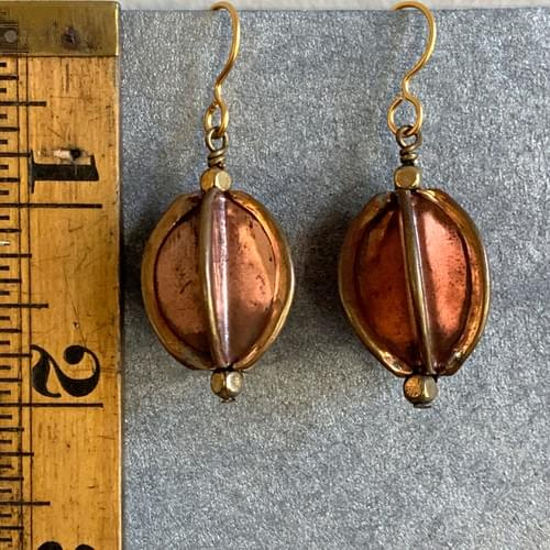Folded Copper Drops