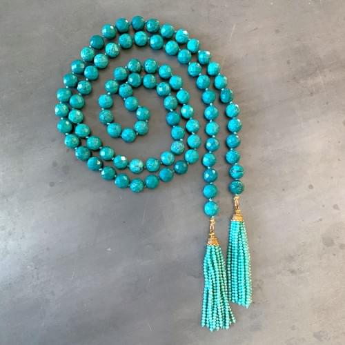 Turquoise Lariat with Tassels