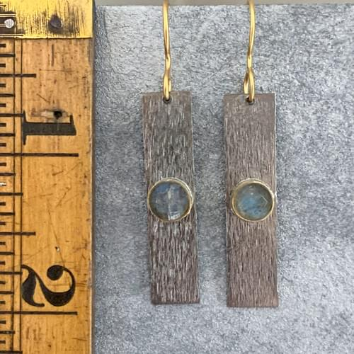 Labradorite with Gold and Silver