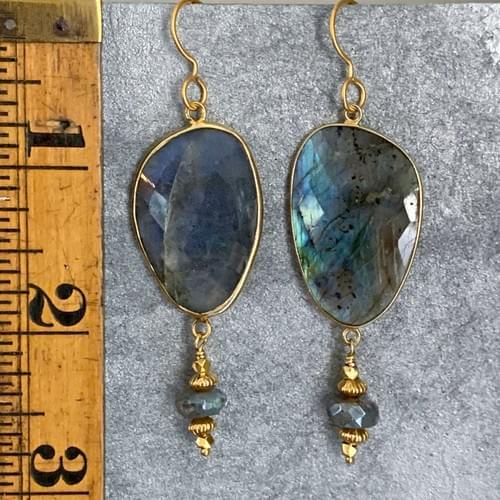 Labradorite and Gold Vermeil