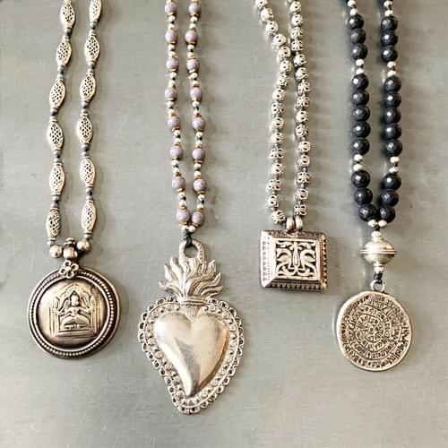 Silver Amulet Necklace