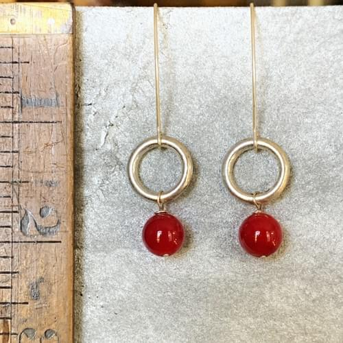 Red Coral and Silver