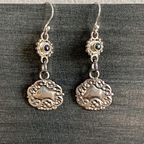 Antique Sterling Silver French Charms
