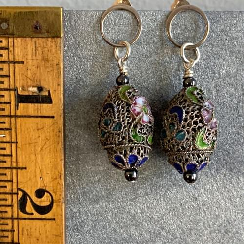Antique Chinese Filigree and Enamel