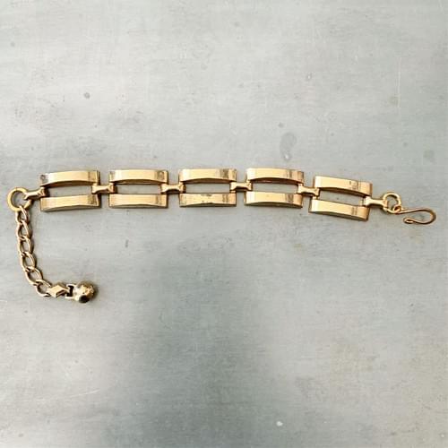 Rectangular Vintage Link Bracelet